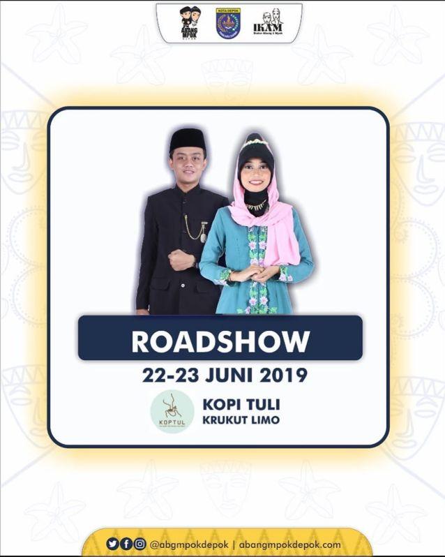 Roadshow Pemilihan Duta Pariwisata Abang Mpok Depok 2019 22-23 Juni 2019 Kopi Tuli Krukut Limo
