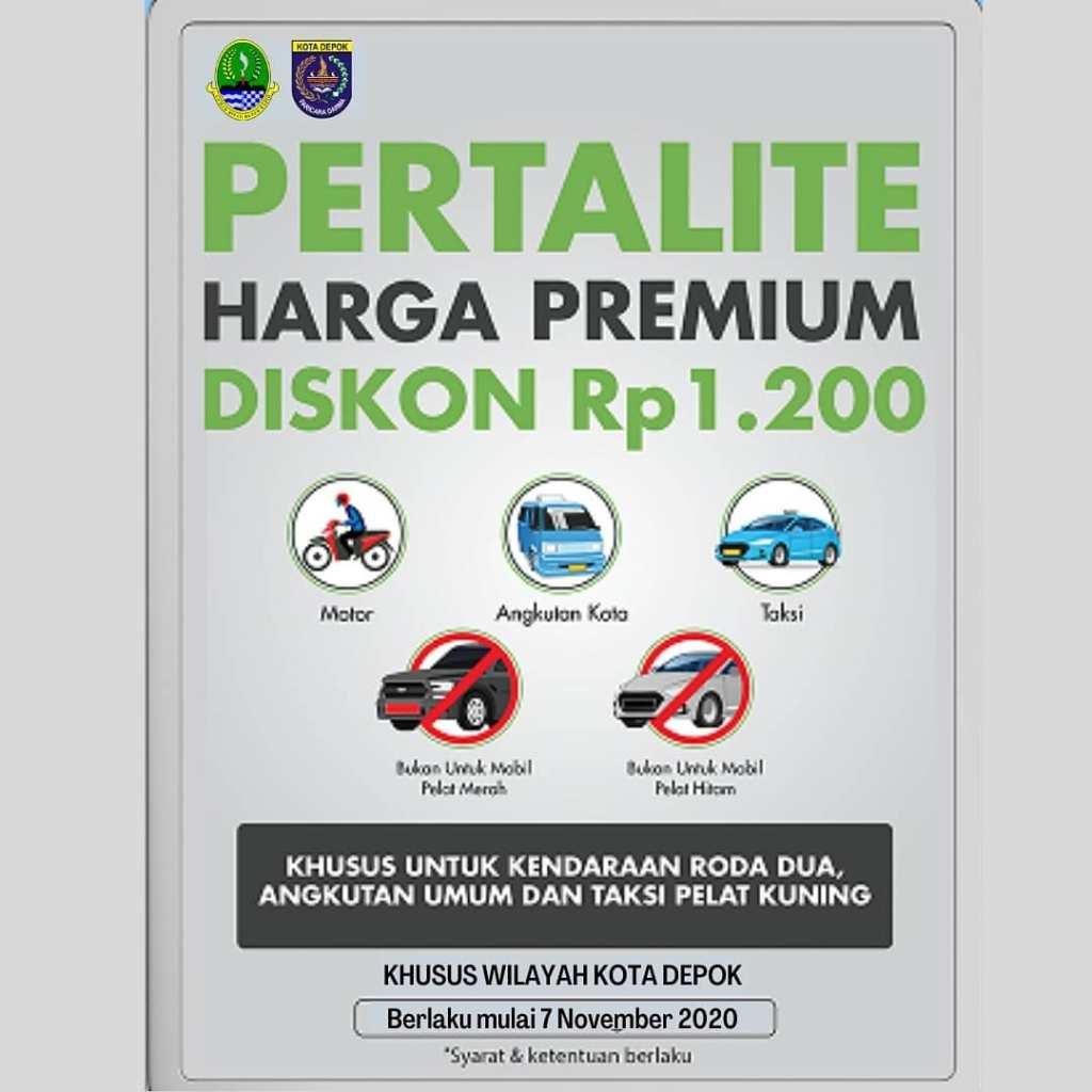 Promo Harga Pertalite sama dengan Premium di Kota Depok