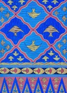 Salah satu disain batik khas Depok