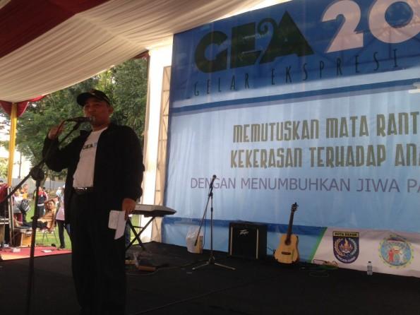 Walikota Depok Muhammad Idris membuka Gelar Ekspresi Anak (GEA) di Balaikota Depok.