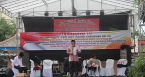 Walikota Depok Muhammad Idris pada acara ulangtahun Pasar Rakyat Sukatani.