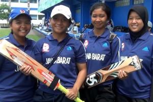 Pemain cricket Depok yang memperkuat tim Jabar melawan DKI Jakarta. (istimewa)