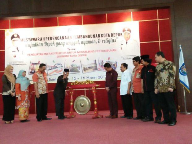 Walikota Depok Mohammad Idris membuka Musrenbang Kota Depok.