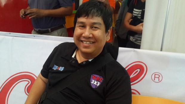Rinto Ari Nando,  Ketua Panitia 2nd NBC 3x3 Tournament.