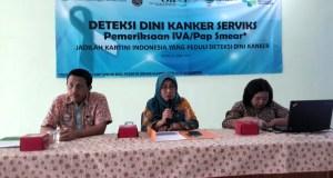 BPJS Kesehatan Cabang Depok menggelar acara pemeriksaan IVA/pabsmear secara gratis dalam rangka Hari Kartini.