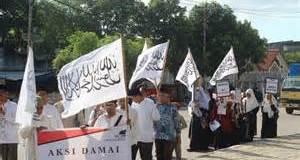 Salah satu aksi Hizbut Tahrir Indonesia.