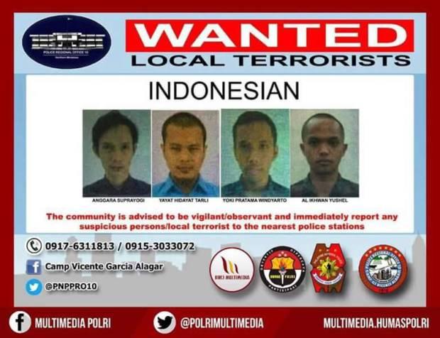 Tujuh WNI menjadi buronan polisi Filipina karena diduga terlibat terorisme.