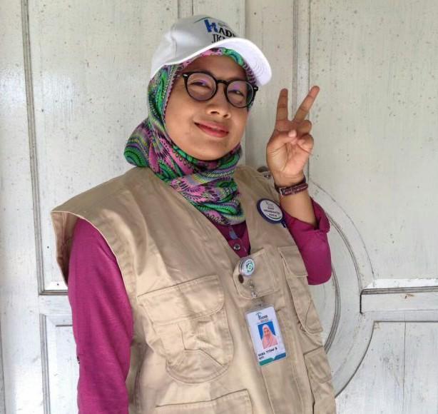Titin Supriatin, kader JKN-KIS di wilayah Sawangan, Kota Depok.