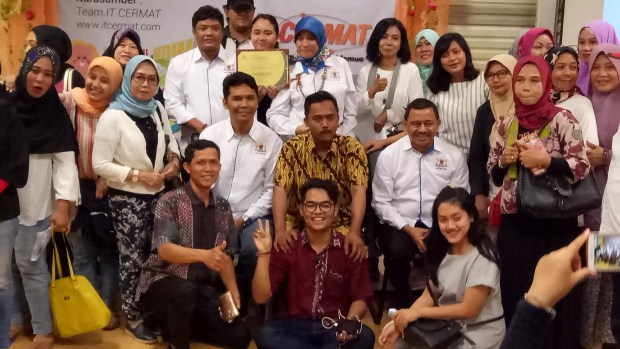 Peserta pelatihan digital marketing.