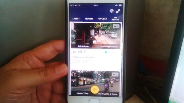 Inilah tampilan aplikasi SIGAP di Android. Dalam waktu dekat masyarakat bisa memanfaatkan aplikasi ini untuk pengaduan.
