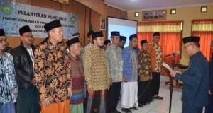 Kepala Kantor Kementrian Agama Kota Depok melantik Forum Komunikasi Pondok Pesantren.