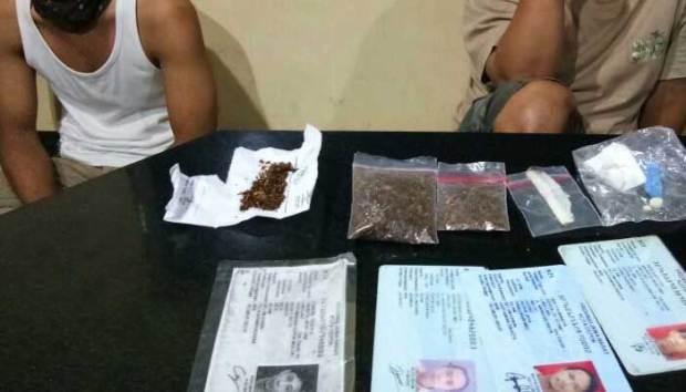 Inilah barang bukti gorila yang berhasil diamankan Tim Jaguar dari 8 pemuda yang ditangkap.