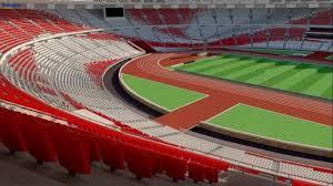 Stadion Utama Gelora Bung Karno tampak begitu megah.