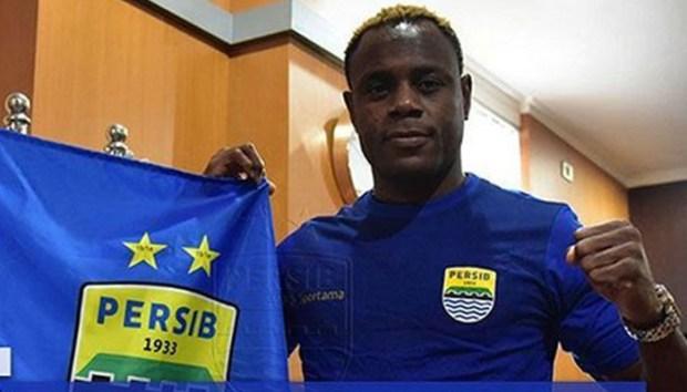 Victor Igbonefo, salah satu dari 3 pemain asing baru yang memperkuat Persib Bandung pada musim ini,.