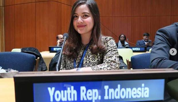 Tasya Karmila yang dulu penyanyi cilik, kini tampil di forum pemuda yang digelar PBB di New York.