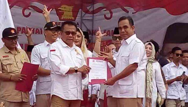 Ketua DPD Gerindra DKI Jakarta mendeklarasikan Prabowo sebagai calon presiden.