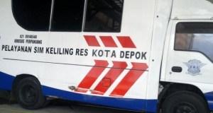 Polresta Depok rutin melakukan pelayanan SIM keliling.