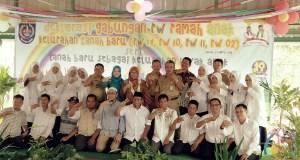 Deklarasi RW Ramah Anak dilakukan pokja 4 RW Kelurahan Tanah Baru.
