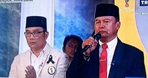 TB Hasanuddin meminta para pendukungnya untuk tenang setelah terpancing dengan statment pasangan asyik yang menyebut ganti presiden di acara debat cagub-cawagub Jabar.
