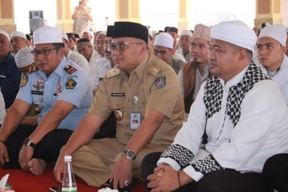 Wakil Walikota Depok Pradi Supriatna menghadiri acara Dzikir bersama di Rutan Cilodong.