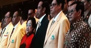 Presiden Jokowi hadir pada acara puncak HUT ke-54 Partai Golkar.