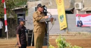 Walikota Depok ketika membuka TMMD di Kecamatan Cipayung.