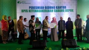 Walikota Depok meresmikan gedung baru BPJS Ketenagakerjaan Kota Depok.