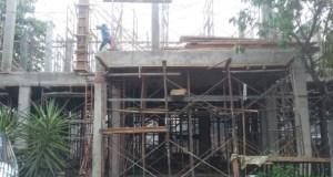 Inilah salah satu gedung Puskesmas yang tengah dibangun.