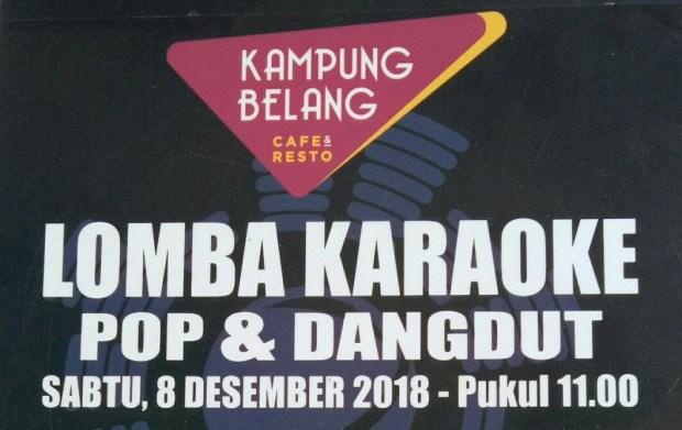 Lomba karaoke di Kampung Belang Cafe dan Resto.