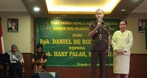 Jabatan Kasi Pidsus Kejari Depok diserahterimakan dari Daniel ke Hary Palar