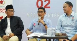 Sandiaga Salahudin Uno menjelaskan dana kampanyenya,