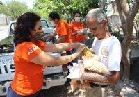 Con acciones, respaldamos las estrategias humanitarias de alimentación que impulsa Locho Morán: Azucena López Legorreta
