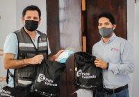 Peña Colorada dona al Ayuntamiento de Colima caretas que se distribuirán al sector salud del municipio.