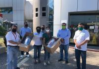 Agradece trabajadores de la Salud a Virgilio Mendoza por su apoyo con material de prevención ante el COVID-19