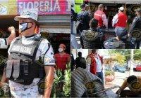 Guardia Nacional encabeza operativo de cierre de negocios no esenciales en Tecomán