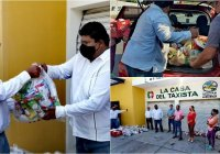 Tras afectaciones por COVID-19, apoyan con despensas a 72 taxistas de Tecomán