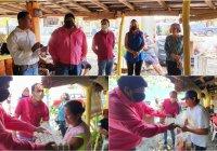 Donan despensas y huevo a integrantes de la Cooperativa de Prestadores de Servicios Turísticos de Pascuales