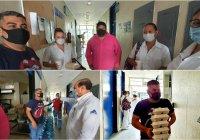 CANIRAC y periodista donan comidas a los 'héroes sin capa' del Hospital General de Tecomán