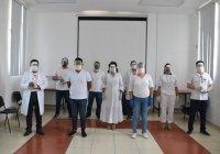 Azucena López Legorreta entregó 1300 protectores faciales a Hospital de Manzanillo
