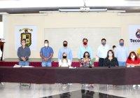 Elías Lozano reconoce al cabildo tecomense por respaldar a funcionarias municipales