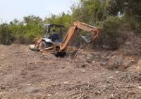 Obras públicas y servicios públicos de Tecomán realiza bacheo en pavimentos y empedrado, limpieza de drenes y áreas de donación