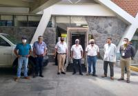 Agronomos Amigos de COLIMA donan túnel sanitizador en Manzanillo