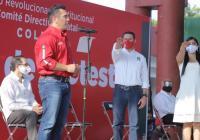 Alejandro Moreno asegurar que en Colima, con trabajo y unidad, el PRI ganara la gubernatura