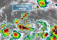 Baja presión con posibilidad de desarrollo ciclónico en el océano Pacífico