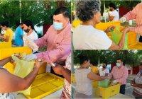 En Ixtlahuacán el presidente Carlos Carrasco y el Dif municipal benefician a más de mil familias con pollo lavado Carrasco