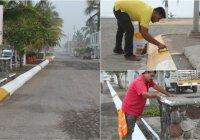 Limpian calles y pintan machuelos en El Paraíso, en Armería