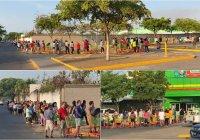 Reabre Bodega Aurrera en Tecomán; la gente se aglomeró sin atender protocolos por COVID-19