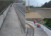 Dan mantenimiento a andador de Flor de Coco a Cofradía de Juárez, en Armería