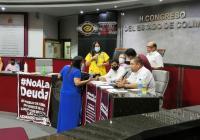 Tras enfrentamiento verbal entre diputados de Morena, se va a receso la sesión del congreso
