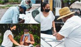 A domicilio se entrega el apoyo económico para adultos mayores del municipio de Colima.